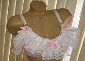 #ADL-1 Adult Sissy Pink Satin Training Bra
