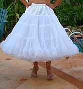 "WP-P6 ALL WHITE PETTICOAT 30"" LONG OVER 150 YARDS"