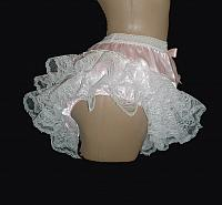 "1L1W-1   ""PINK"" SATIN & LACE PANTIES or Choose your Color"