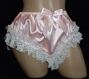 "DL-2    PINk ""Satin Leg Lace Panties"""