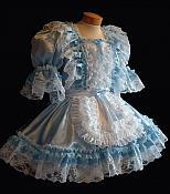 """Sera"" Blue Ruffle French Maid Dress"