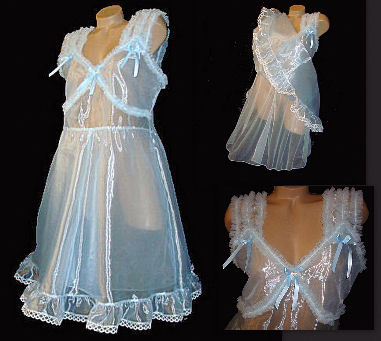 fty001   Shimmery Organza Negligee