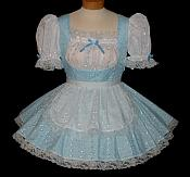 """BLUE LOLITA""  Eyelet French Maid Uniform"