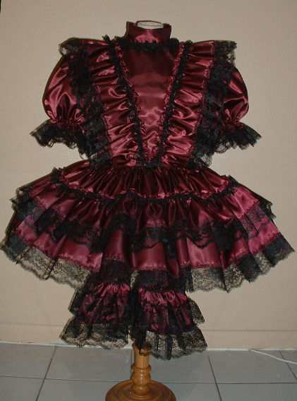 """BURGUNDY SHORT"" Gothic Dress"