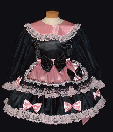 SWEET Goth - black & pink French Maid Dress