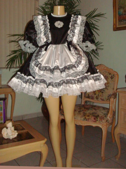 sat110 Short Prissy French Maid Dress