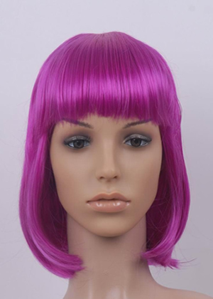 W6367   Fancy Fashion straight half length wig