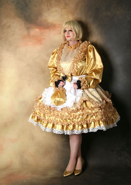 Belle-2  Gold Ruffle Belle Dress