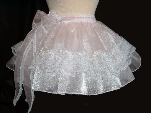 SKI-S3  Sheer Crystal Organza with waist sash