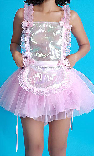 sat951 Glass Silk See-through Pinafore (Apron)