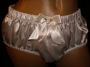 CLP-05 White Satin - Low Rise Classic Panty