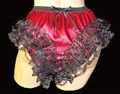 2L1W-4 Gothic Burgundy & Black Lace Panty