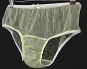LRP-1  Adult Sissy Yellow Vintage Low Rise Panties With SINGLE Gusset - Cross Dresser
