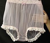 #PNT8 Adult Sissy Baby Nylon Chiffon with Leg Lace