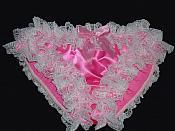 DL-5 Hot Pink Satin & Lace Panty
