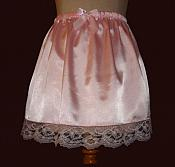 1704 Pink Satin Slip Mini Skirt