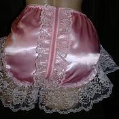 ZIP-1  Frilly Zipper Back (spanking) Panties