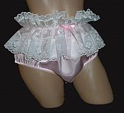 1L1W-2 Satin and Organdy Ruffle Panty - Color options